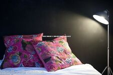 Cushion Cover India Handmade Floral Cotton Embroidered Pillow Case Cover Throw