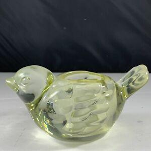 "Indiana Yellow Glass Bird Votive Holder-Dawn 5.5""x 2.5"""