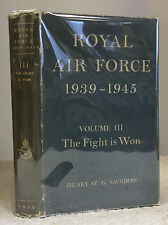 ROYAL AIR FORCE 1939-1945: Volume III, The Fight is Won- 1959, WWII aviation