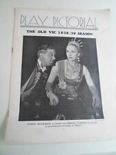 Vintage Theatre Magazine PLAY PICTORIAL The Old Vic 1938-39 Season ILLUSTRATED