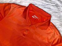 Nike golf polo shirt medium short sleeve orange