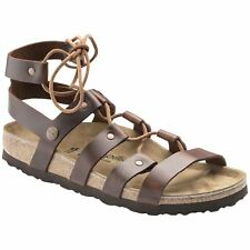 Papillio by Birkenstock Cleo Cognac Womens Leather Gladiator Strappy Sandals