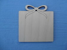 Wooden Christmas Present Plain Gift Tag Decoration Craft Blank Shape Pack x 10