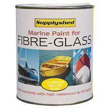 SUPPLYSHED Marine Boat Gloss SUMMER YELLOW Paint for Fibreglass and GRP 750ml