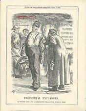 1875 Punch Cartoon Army Regimental Exchanges Clothes Dealer Tailor
