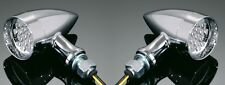 CHROME LED TURNSIGNAL/INDICATORS PAIR Motorcycle/Harley/Chopper/Custom 68-9252