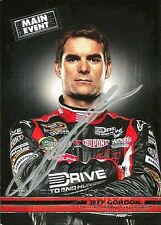 Jeff Gordon Signed 2011 Press Pass Main Event NASCAR Trading Card