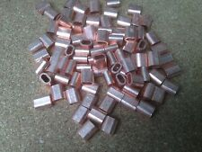 10x Copper Talurit Ferrules for 1.5mm / 2mm  Stainless Steel Wire Rope Rigging
