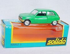 Solido France GAM1 1:43 RENAULT 5 Hatchback Green #10 Model Car MIB`78!