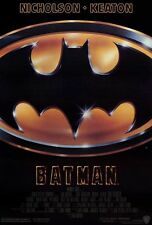 "BATMAN (1989) Movie Poster [Licensed-New-USA] 27x40"" Theater Size. [Keaton]"