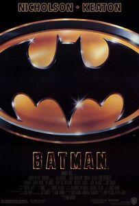 "BATMAN (1989) Movie Poster [Licensed-New-USA] 27x40"" Theater Size. [Keaton]"