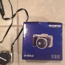 Olympus SP-800UZ 14.0 MP Digital Camera-Silver-extras 3 batteries,wall charger,