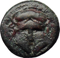 MESEMBRIA Thrace 400BC Rare  Ancient Greek Coin Corinthian helmet  i30254