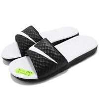 Wmns Nike Benassi Solarsoft White Black Womens Slippers Sandal Slides 705475-010