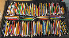Lot of 210 USED PENCILS ~ some advertising ~ some vintage ~ some novelty Crafts