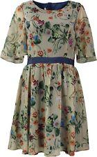 24/30 NEU ONLY Damen Kleid kurzarm mit Blumen A-Linie Hippie Short Dress Gr. 38