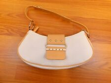 Guess Brand Small White G Logo Monogram Shoulder Canvas Handbag