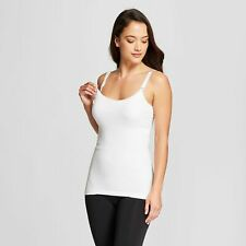 Maternity Post Pregnancy Shaping Nursing Tank - Large White NWT #t13