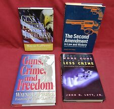 4 Book Lot-Guns, Crime & Freedom,Signed/The 2nd Amend./Guns Freedom & Terroism