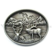 Deer Western Metal Fashion Belt Buckle