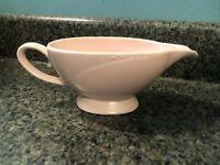 Vintage Homer Laughlin - Serenade - Pink Gravy Boat Serving Dish 1950's
