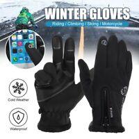 Men Women Winter Warmer Gloves Windproof Waterproof Thermal Touch Screen Mitten