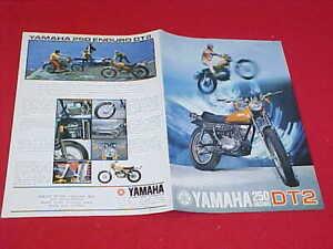 1972 YAMAHA DT2 250 ENDURO ORIGINAL MOTORCYCLE MOTORCROSS BROCHURE PROSPEKT 72