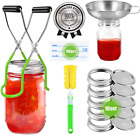 Stainless Steel Canning Supplies, Canning Kits Starter Kit for Beginner:10Pcs Ca