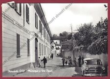 PAVIA MIRADOLO TERME 22 MUNICIPIO - AUTO d'EPOCA Cartolina viagg 1960 REAL PHOTO