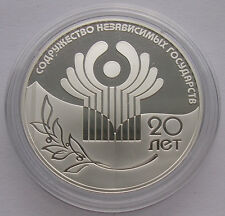 "Rusia 3 rublos -"" 20 años Gus"" - 2011 (pp) Proof, plata"