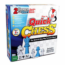 Quick Chess Fun Educational Learning 2-in-1 Kids Or Adult Game Birthday Gift