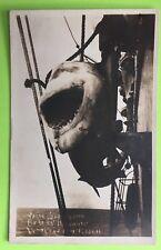 USS Delaware Real Photo Postcard With Huge Fish Or Shark In Vers Cruz 1915