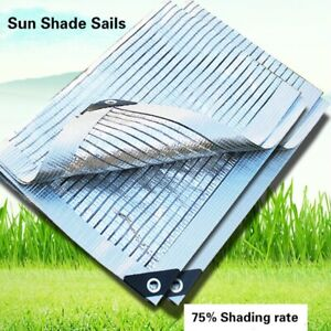 75% Sun Shade Net Shelter Sails Aluminum Foil Sun Shading for Plants Garden