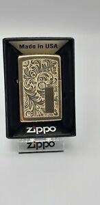 Original Zippo Venetian brass /Messing - 2015 - Neu 1029007