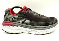 Hoka One Bondi 5 Black Red Mesh Lace Up Athletic Running Shoes Men's 13