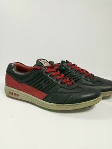 Ecco Golf Shoes 44 Hydromax Black and Red