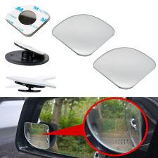 2pcs HD Side View Car Adjustable Blind Spot Wide Angle Rear Fan Mirror #1009