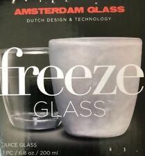Freeze Glass - Juice Glass - 6.8 oz - New in Box