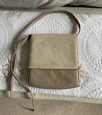 Bally Vintage Mushroom/cream Shoulder/crossbody/clutch Bag