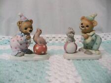 "Elegant Home Interior Homco""Set Of 2 Circus Bears""Figurines"
