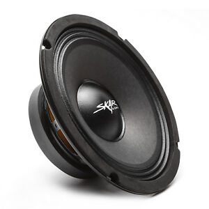 NEW SKAR AUDIO FSX8-4 350-WATT SINGLE 8-INCH 4 OHM MID-RANGE LOUDSPEAKER