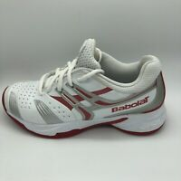 Babolat V-Pro All Court Tennis Shoes White And Red Womens Size 7.5