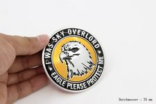 D991 Adler I was sky overlord Auto 3D Emblem Rund Badge Aufkleber Car Sticker