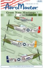 NEW 1:48 Aeromaster Decals 48653 Green Nose North-American P-51D Mustangs 359FG