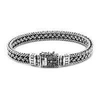 BALI Hand WEAVED Solid 925 Sterling Silver Chain Bracelet