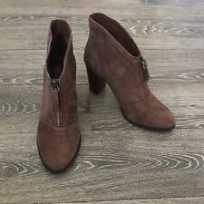 Athena Alexander Women's Rennes Brown Suede Ankle Boots Booties Sz 8.5