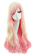 Long Wig Rose and Blonde Wave of 70cm with Wick, Cosplay