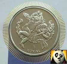 2001 GIBRALTAR Two Cherubic Children (Angels) 1 One Royal Coin FDC + COA