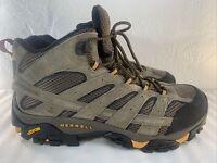 Men's Size 12 Merrell Moab 2 Vent Mid Vibram Hiking Boots Shoes Walnut J06045W