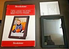 Brookstone Talking Large Black Photo Frame Record An Audio Message To Pair Photo